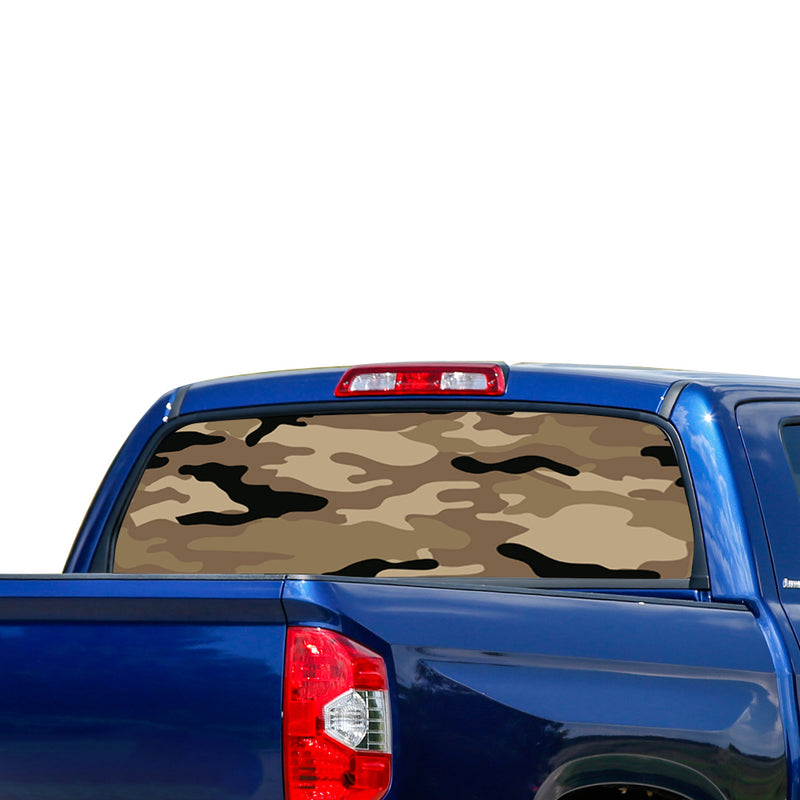 Army Perforated for Toyota Tundra decal 2007 - Present