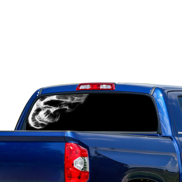Half Skull Perforated for Toyota Tundra decal 2007 - Present