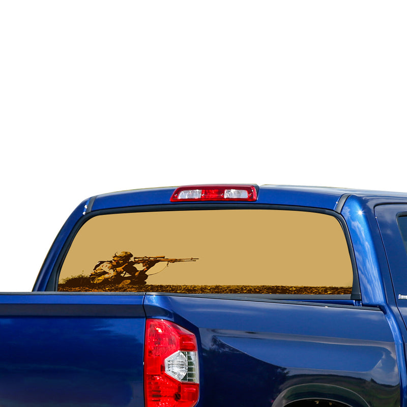 Army Sniper Perforated for Toyota Tundra decal 2007 - Present