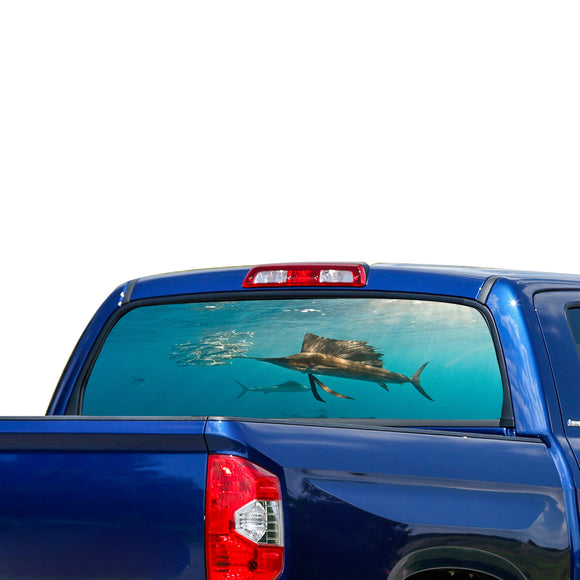 Fishing 1 Perforated for Toyota Tundra decal 2007 - Present