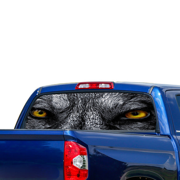 Wolf Eyes Perforated for Toyota Tundra decal 2007 - Present
