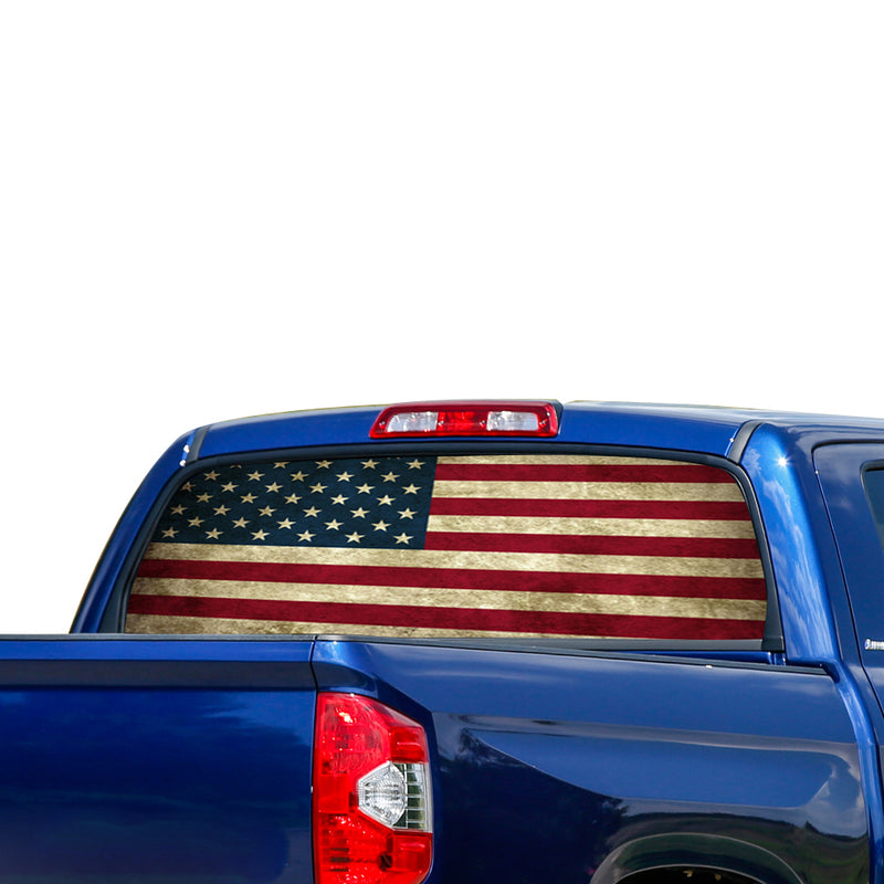 Flag USA Perforated for Toyota Tundra decal 2007 - Present