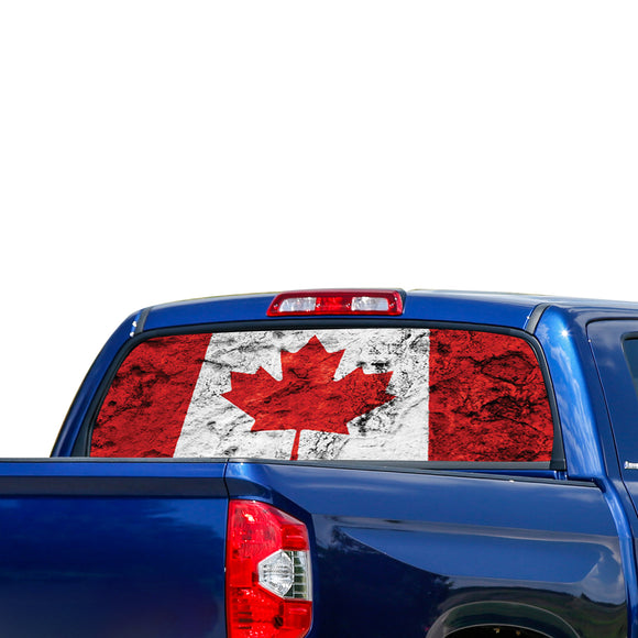 Canada Flag Perforated for Toyota Tundra decal 2007 - Present