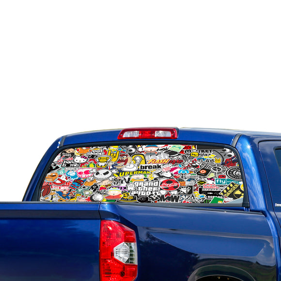 Bomb Skin Perforated for Toyota Tundra decal 2007 - Present