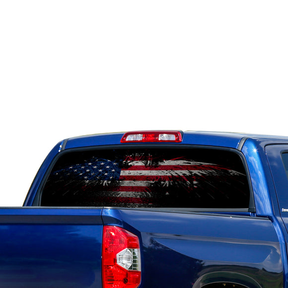 USA Eagle 2 Perforated for Toyota Tundra decal 2007 - Present