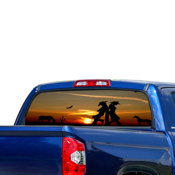 Wild west Perforated for Toyota Tundra decal 2007 - Present