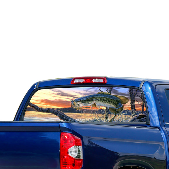 Fishing Perforated for Toyota Tundra decal 2007 - Present