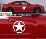 Star Stripe Sticker Decal side door For Dodge Charger 2011 - Present