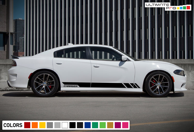 Side Stripe Kit Sticker Decal Graphic Dodge Charger SRT 8 2011-2017