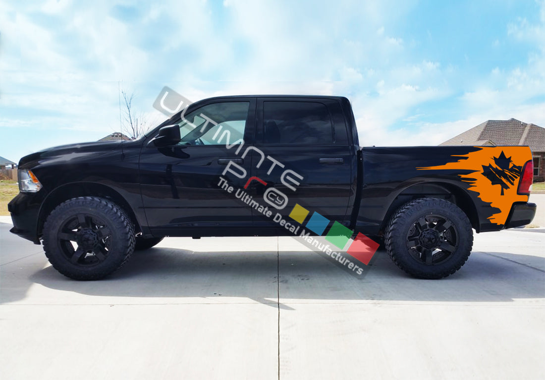 Side Bed Graphic Decal Canada Flag Dodge Ram 2009 Present