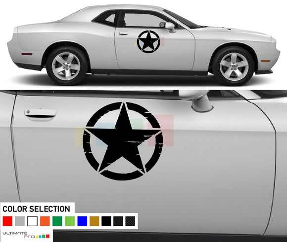 Star Vinyl Side Decal Sticker For Dodge challenger RT SRT8 2008 - Present