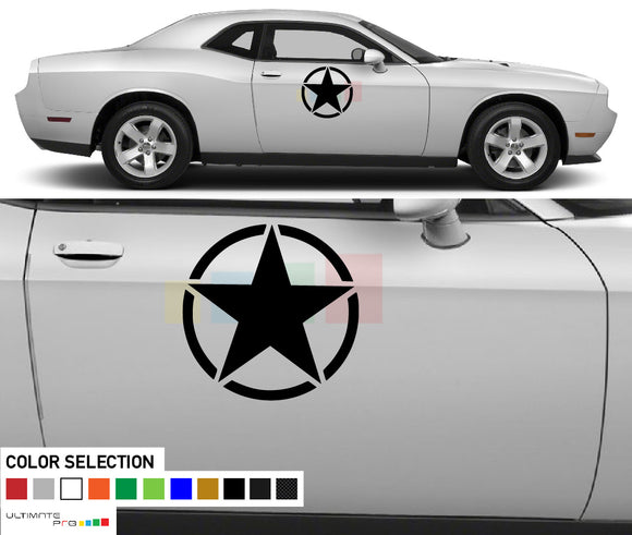 Decal Side Star Sticker For Dodge Challenger RT SRT 2008 - Present
