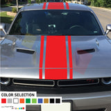 Decal Sticker Front to Back Stripe For Dodge Challenger 2008 - Present