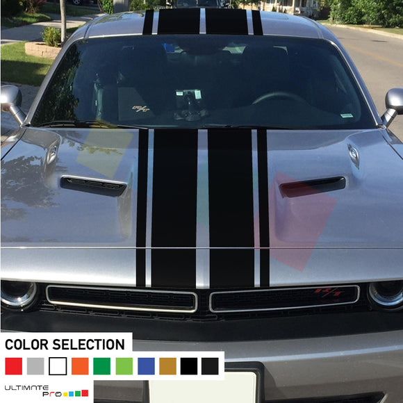 Decal Sticker Stripe Full Body Kit For Dodge Challenger 2008 - Present