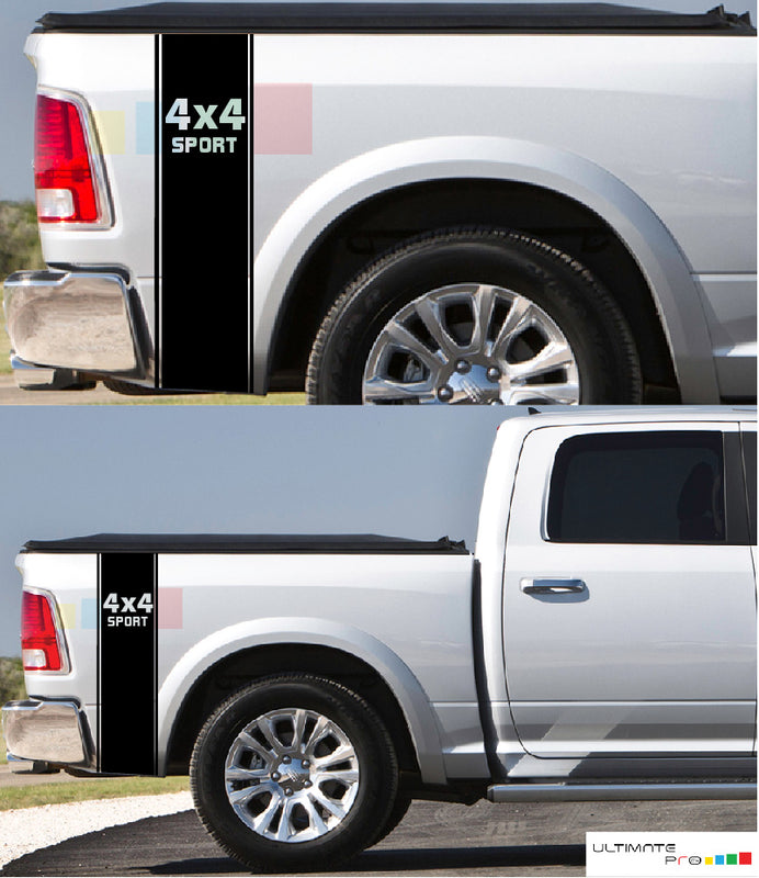 Bed Decal Rear Panel Stripe Sticker Dodge Ram 2009 - Present