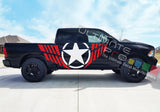 Side Door Big Star Decal Sticker Graphic Dodge Ram 2009 - Present