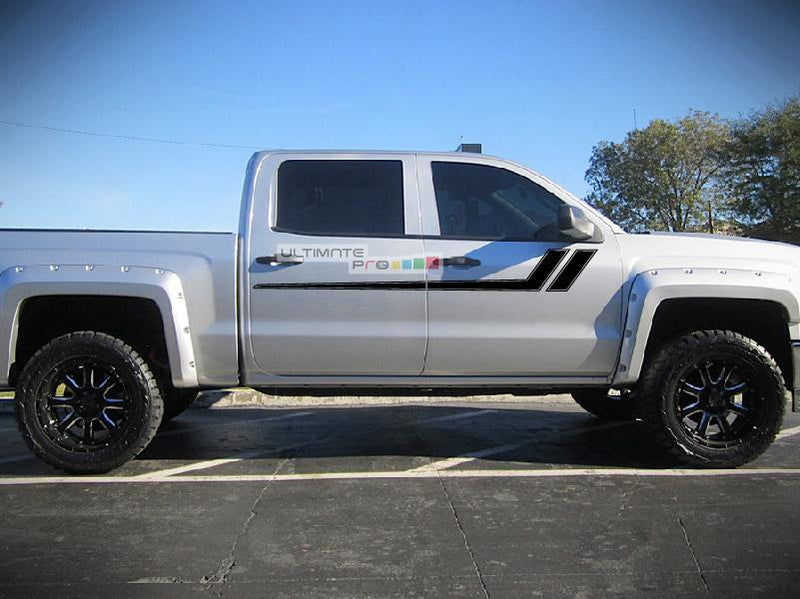 Decal Side Sport Stripe Kit Compatible with Chevrolet Silverado