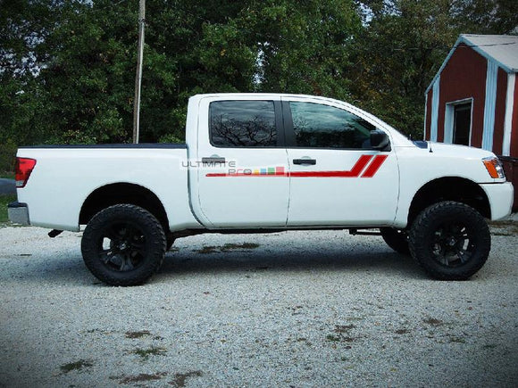 Decal Graphic Vinyl Upper Door Racing Stripes Nissan Titan 2003-2015