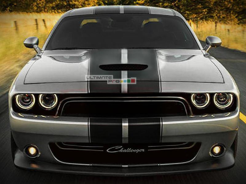 Decal Sticker Graphic Front to Back Stripe Kit Dodge Challenger