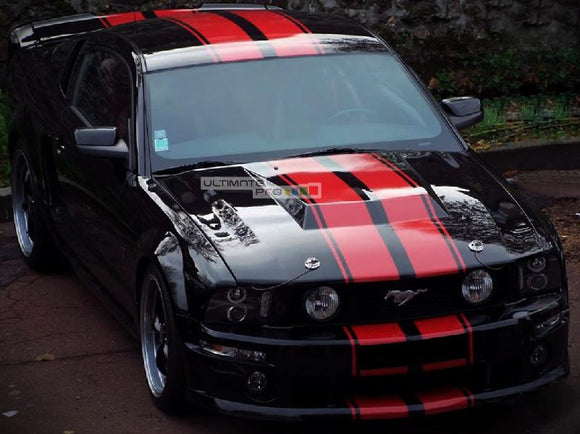 Decal Sticker Graphic Front to Back Stripe Kit Ford Mustang GT