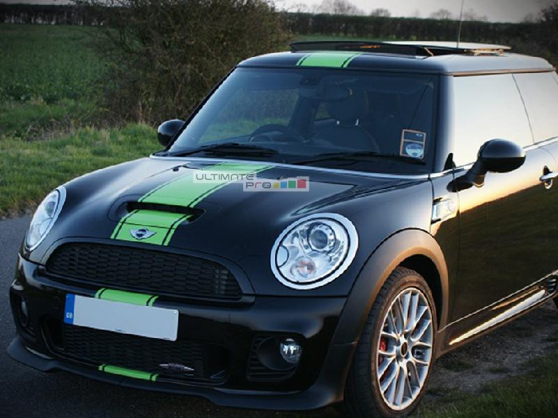 Decal Sticker Graphic Front To Back Stripe Kit Mini Cooper Hatch