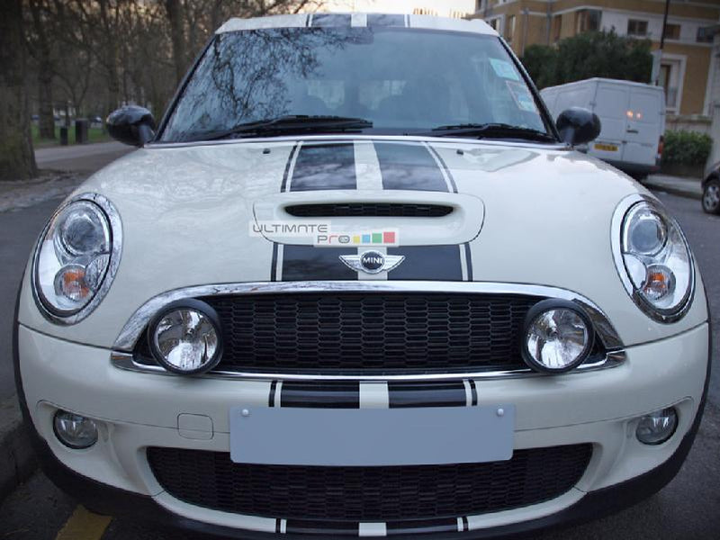 Decal Sticker Graphic Front to Back Stripe Kit Mini Cooper S John Cooper Works