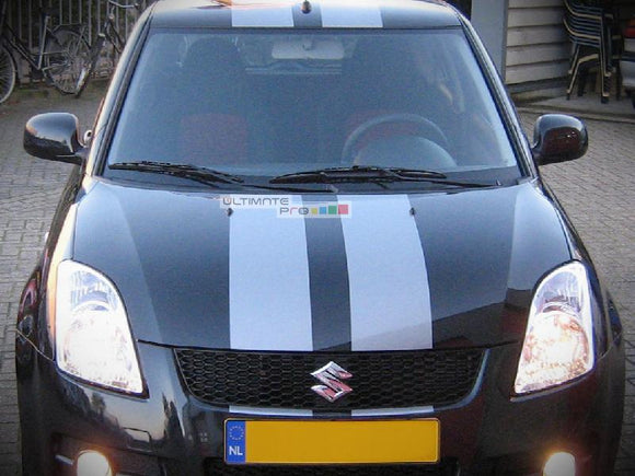 Decal Sticker Graphic Front to Back Stripe Kit Suzuki Swift Sport