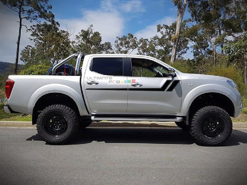 Decal Sticker Graphic Racing Hash Stripes Nissan Navara NP300 D23