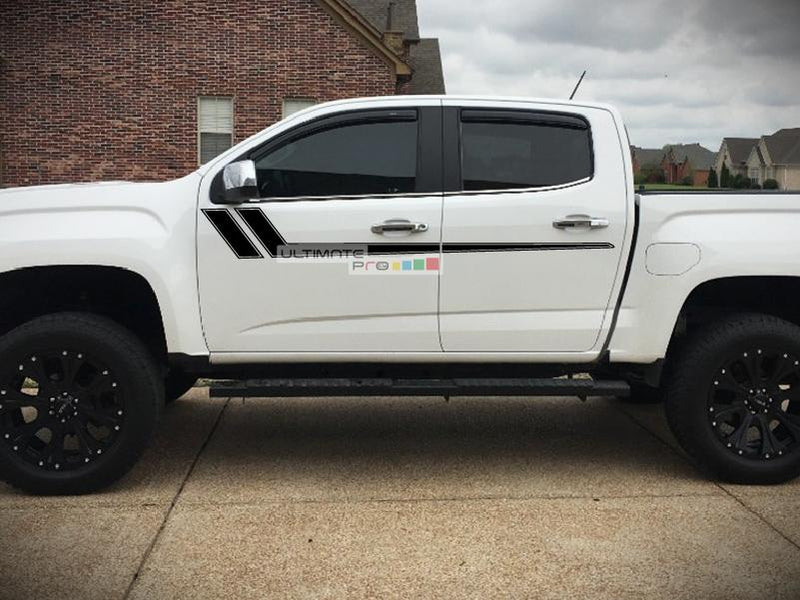 Decal Sticker Graphic Upper Door Stripes GMC Canyon 2014-2017