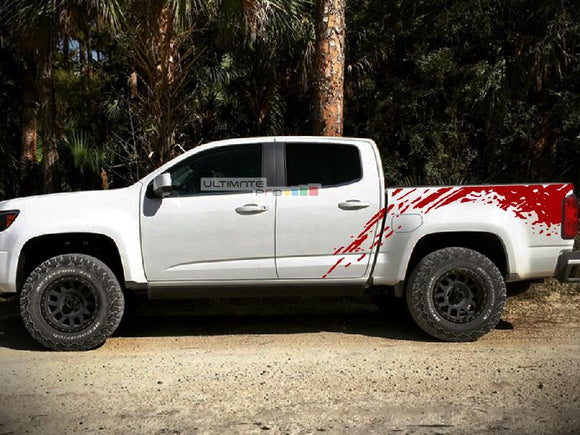 Decal Sticker Vinyl Bed Splash Mud Kit Chevrolet Colorado 2012-2017