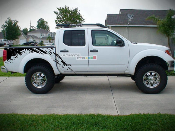 Decal Sticker Vinyl Bed Splash Mud Kit Nissan Frontier Navara 2004-2015