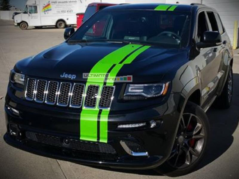 decal sticker vinyl body racing stripe kit compatible with jeep grand cherokee wk2 srt8 2017 Jeep Cherokee Trailhawk