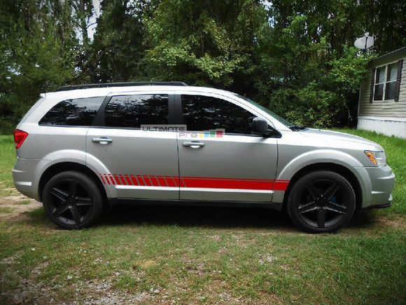 Decal Sticker Vinyl Lower Sport Stripe Kit Dodge Journey 2009-2014