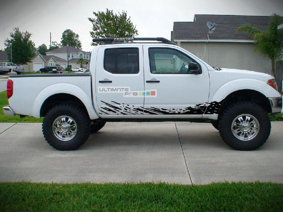 Decal Sticker Vinyl Mud Splash Nissan Frontier Navara 2004-2015