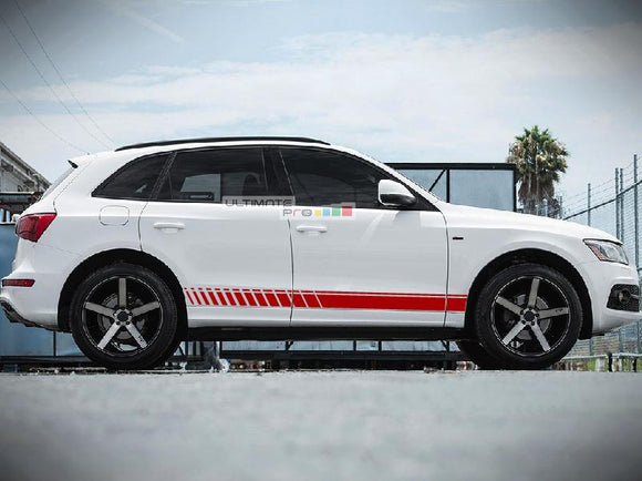 Decal Vinyl Universal Side Sport Stripe Kit Compatible with Audi Q5