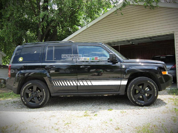Decal Sticker Vinyl Side Sport Stripe Kit Jeep Patriot 2007-2017