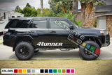 Decal Sticker Vinyl Side Stripe Kit Compatible with Toyota 4Runner