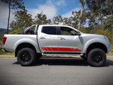 Decal StickerVinyl Side Mountain Stripes Nissan Navara NP300 D23