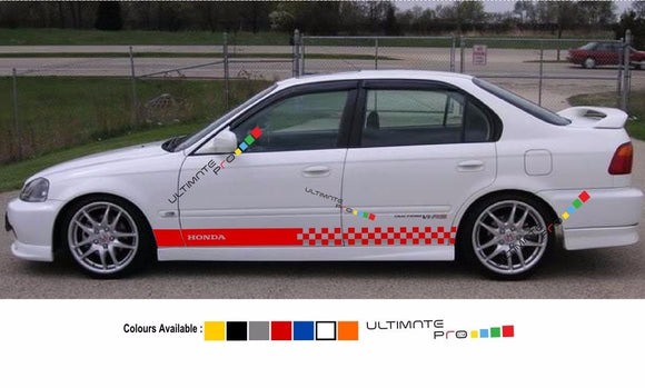 Decal sticker Stripe For HONDA civic 1997 1998 1999 2000 EK9 Type R