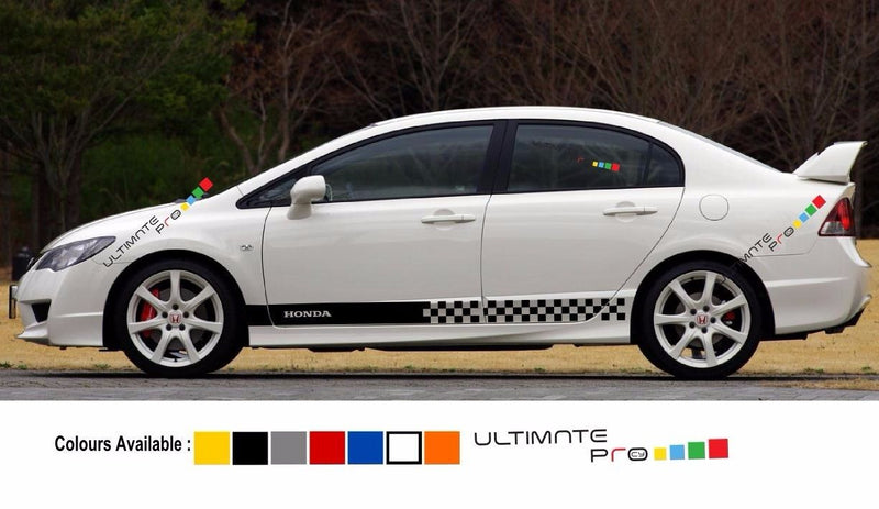 Decal sticker Stripe kit For HONDA Civic Type R 2006 2011 Carbon Fd2