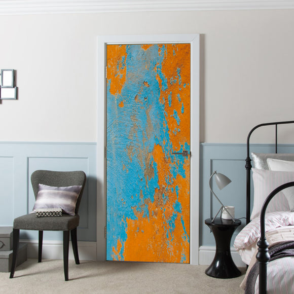 Door Cover with Decal Vinyl Vintage Wall Design printed Wallpaper