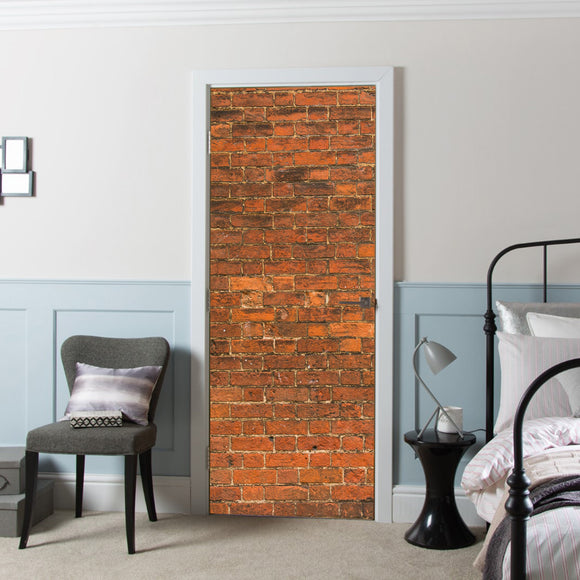 Door Cover with Decal Vinyl Wall Bricks printed Wallpaper