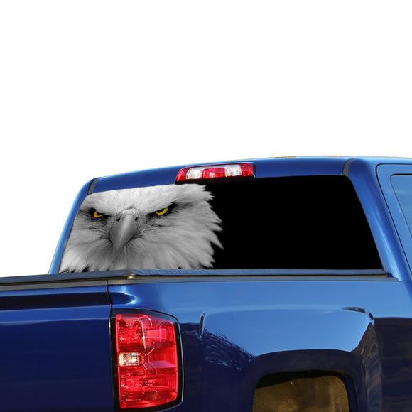Black Eagle 2 Perforated for Chevrolet Silverado decal 2015 - Present