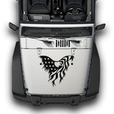 Hood Eagle Stripes, Decals Compatible with Jeep Wrangler JK 2010-Present