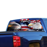 USA Eagles Perforated for Chevrolet Silverado decal 2015 - Present
