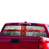 England Flag Perforated for Chevrolet Colorado decal 2015 - Present