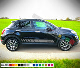 Sport Side Stripes Decal For Fiat 500X 2016 - Present