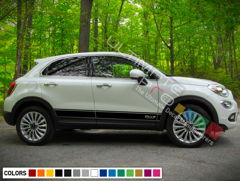 Decal Sticker Side Stripes For Fiat 500X 2016 - Present