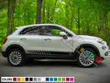 Racing Side Stripes Decal For Fiat 500X 2016 - Present