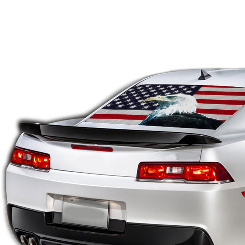 Eagle Flag Perforated for Chevrolet Camaro Vinyl 2015 - Present